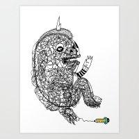 A Doodle Lives Inside of ME.  Art Print