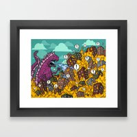 Atomic Fire Attack GO! Framed Art Print