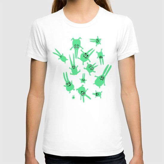 bunnies in weightlessness T-shirt