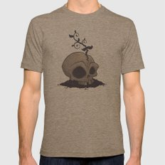 Skull Garden Mens Fitted Tee Tri-Coffee SMALL