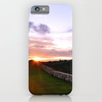 Couple walking at sunset iPhone 6 Slim Case