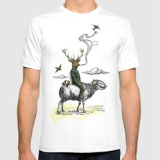 Cavalry SMALL Mens Fitted Tee White