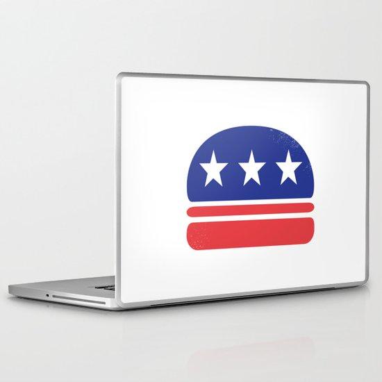I Vote for Burger! Laptop & iPad Skin