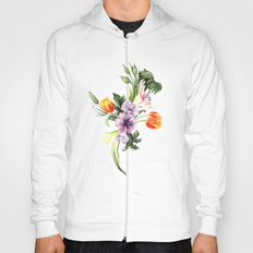 Watercolor spring floral pattern Hoody