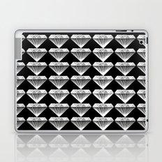 Diamonds Pattern - Black and White and Grey Laptop & iPad Skin