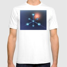 Technology In Space Mens Fitted Tee White SMALL
