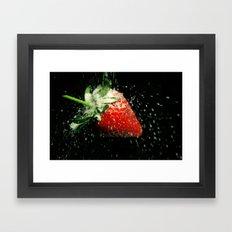 Strawberry Showered in Sugar! Framed Art Print
