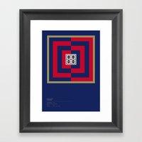 Cagliari Calcio Geometri… Framed Art Print