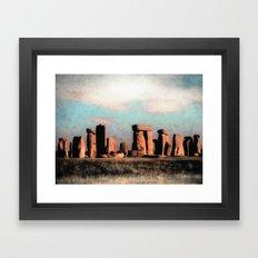Mysterious Stonehenge Framed Art Print
