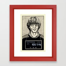 Bill Gates Mugshot Framed Art Print