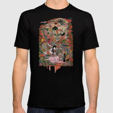 WIND THE SWAN Mens Fitted Tee Black SMALL