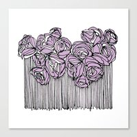 String Bouquet - Lavender Canvas Print