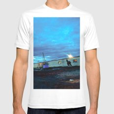 A horse. SMALL Mens Fitted Tee White