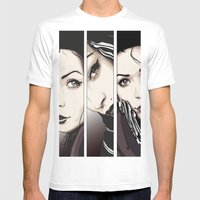 Miradas Mens Fitted Tee White SMALL