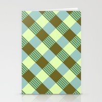Retro Plaid Stationery Cards