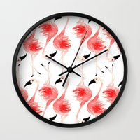 Flamingos! Wall Clock