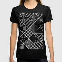 Whackadoodle Womens Fitted Tee Tri-Black SMALL