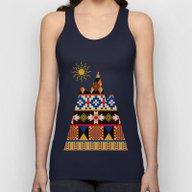 Colourful Tribal Aztec P… Unisex Tank Top