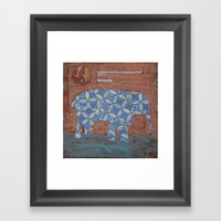 Elephant Dreams Framed Art Print