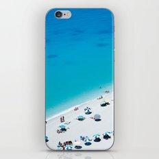 The beach. Blue sea mediterranean Greek beach. Summer seascape photography iPhone & iPod Skin