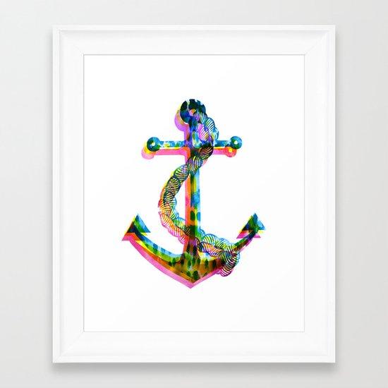 CMYK Anchor Framed Art Print