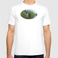 House at and in the water Mens Fitted Tee White SMALL