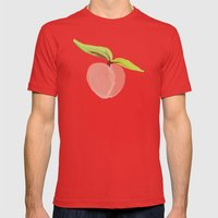 Peaches Mens Fitted Tee Red SMALL