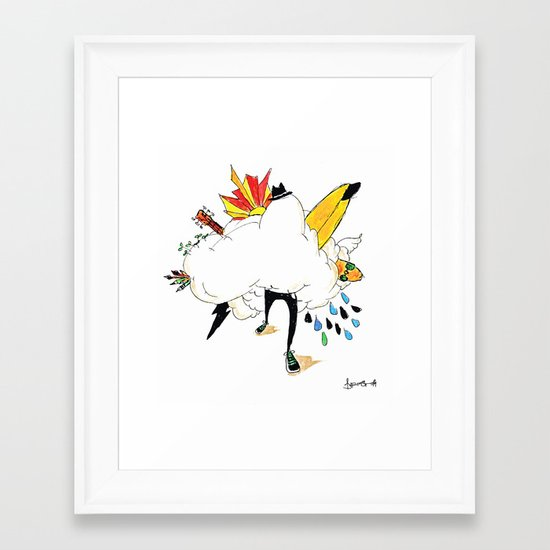 ED IN THE CLOUDS Framed Art Print