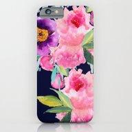 Floral Blue iPhone 6 Slim Case