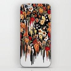 Free Falling, melting floral pattern iPhone & iPod Skin