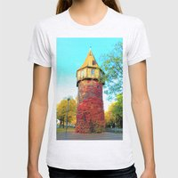 Tower in Autumn Womens Fitted Tee Ash Grey SMALL