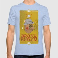 Broke Again Mens Fitted Tee Tri-Blue SMALL