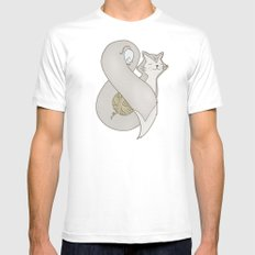 Catpersand Mens Fitted Tee White SMALL