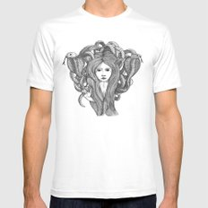 Snake Charmer Mens Fitted Tee White SMALL