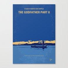No686-2 My Godfather II minimal movie poster Canvas Print
