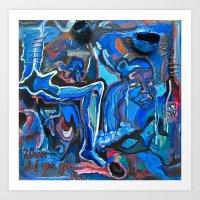 The Blue Cadaver Art Print