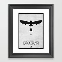 How To Train Your Dragon… Framed Art Print