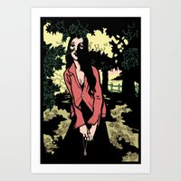 Shadows In The Woods #1 Art Print