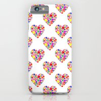 iPhone & iPod Case featuring Rainbow Heart Pattern by Irina Chuckowree