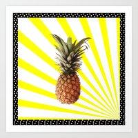Ananas pop Art Print