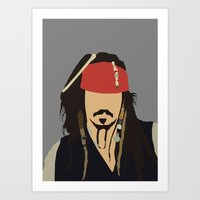 Johnny Depp Pirates Digi… Art Print