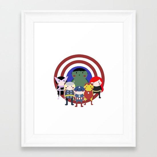 Hello Avengers Framed Art Print