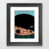 Blinking Framed Art Print