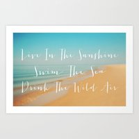 Live The Sunshine Art Print