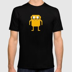 jake pixel Black SMALL Mens Fitted Tee