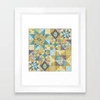 Starlight Patchwork  Framed Art Print