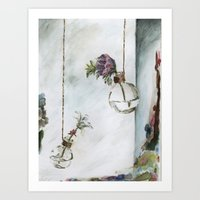 Intimacy (Oak Leaf Geran… Art Print