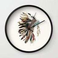 Native Headdress Wall Clock