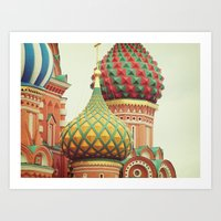 Russian Onion Domes Art Print