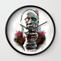 Marlon Brando under brushes effects Wall Clock